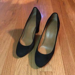 J. Crew Black Suede Pump High Heels
